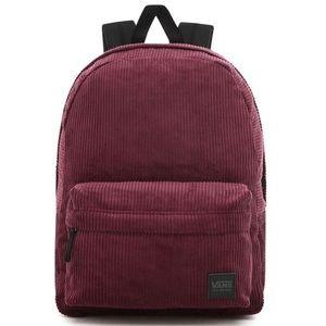 Vans off the wall burgundy backpack